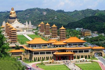 Birdseye view of the Buddha Museum