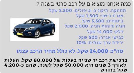 כמה תחסכו אם תיפרדו מהרכב הפרטי, ולמה זה כנראה לא יקרה