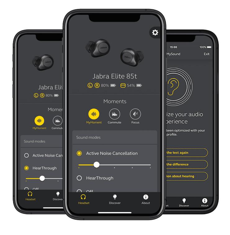 ג'ברה 85t - אפליקציית sound+ של JABRA