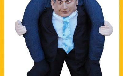 בובה של תחפושת: ביבי, בנט, רגב, חזן, ליברמן ולפיד מרכיבים אתכם על הכתפיים