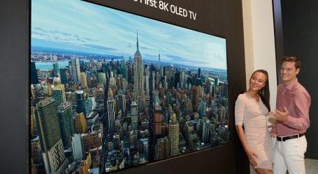 התלהבתם מטלוויזיית 4K? חברת LG משיקה טלוויזיית 8K OLED