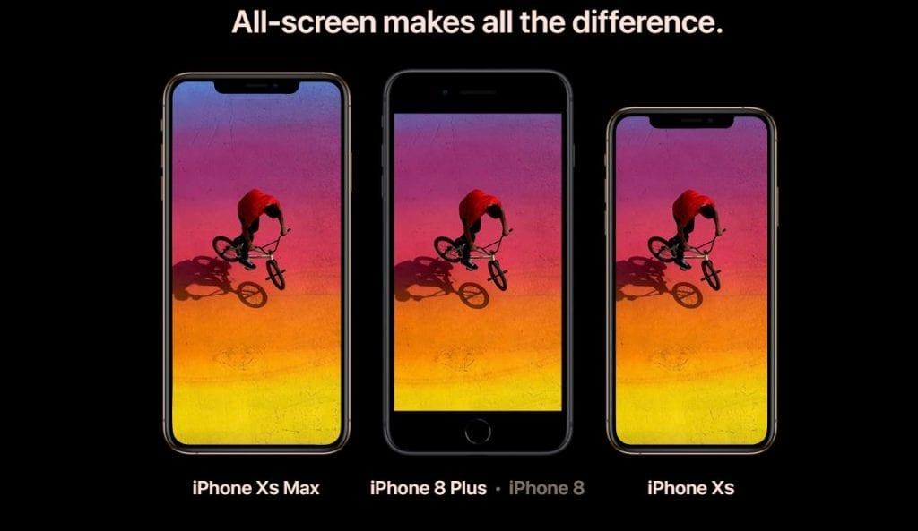 השוואה בין אייפון 8 פלוס לבין אייפון Xs ואייפון Xs Max