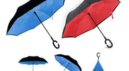 מטריה מתהפכת במגוון צבעים לבחירה ב-39 שקל בלבד