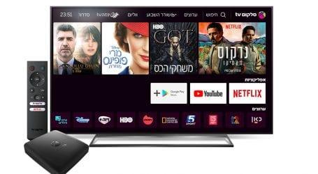 סלקום TV מוסיפה את נטפליקס ומשיקה ממיר אנדרואיד TV