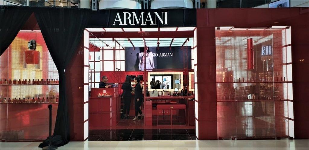 חנות ארמני ביוטי בקניון רמת אביב
