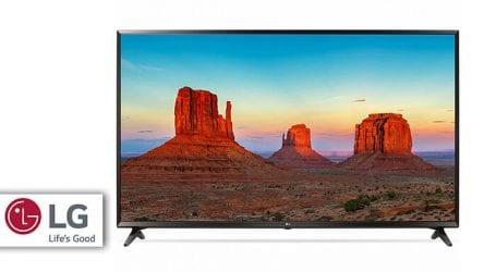 טלוויזיה חכמה 4K של LG בגודל 43 אינץ' – במחיר מצחיק