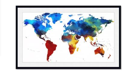 מפת עולם לתלייה על הקיר – פתרון עיצובי מקסים לכל חלל