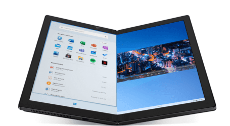 הצצה ללפטופ המתקפל הראשון – לנובו X1 Fold מסדרת ThinkPad