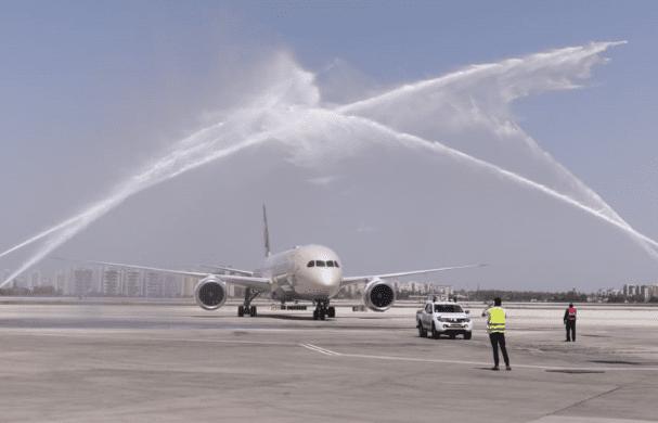 טקס הסלנה - מטוס חברת אתחאד מאבו דאבי