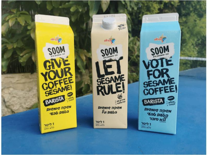 תחליפי חלב SOOM של שטראוס