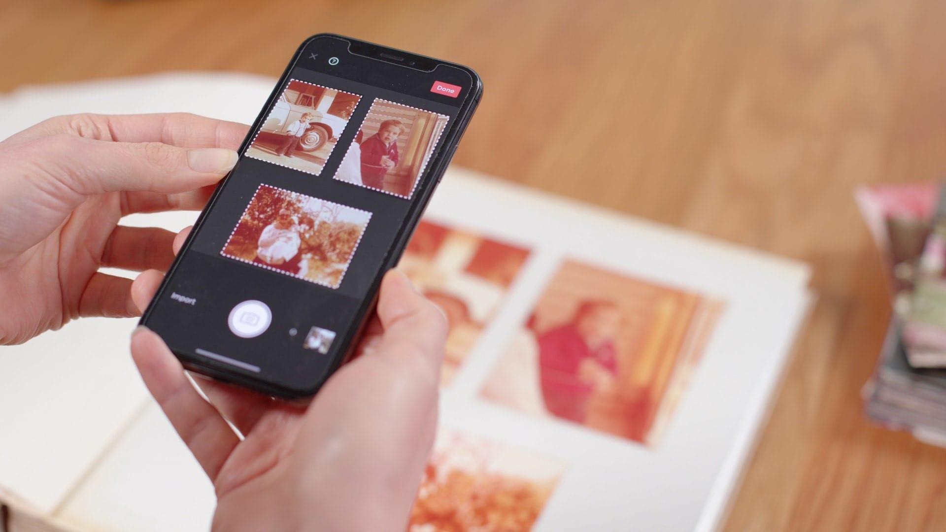 אפליקציית פוטומיין לסריקת אלבום תמונות